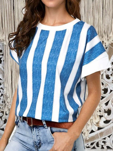 Short Sleeve Casual Round Neck Tops