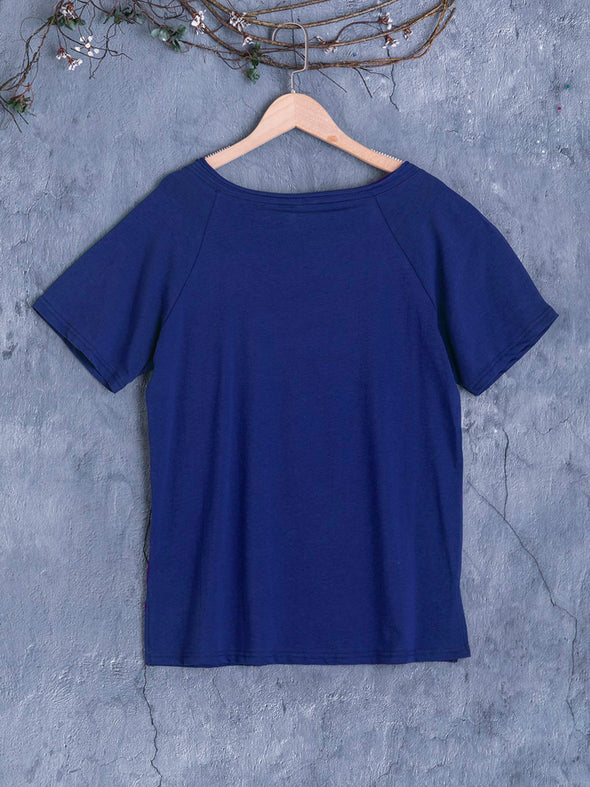 Cotton V Neck Casual Tops
