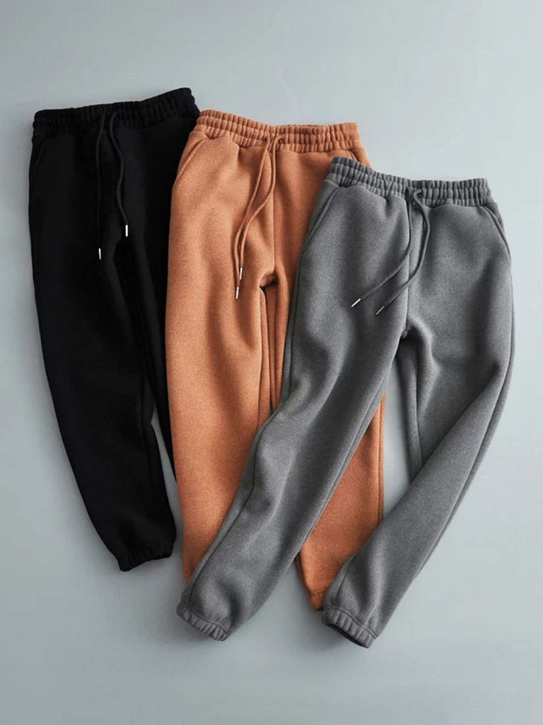 Gathered Solid Simple & Basic Pants
