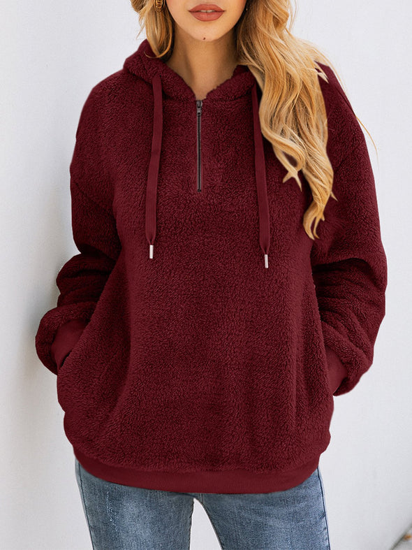 Zipper Casual Long Sleeve Hoodie Outerwear