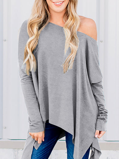 Long Sleeve Solid Tops