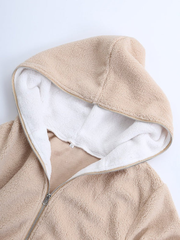 Zipper Hoodie Long Sleeve Casual Outerwear