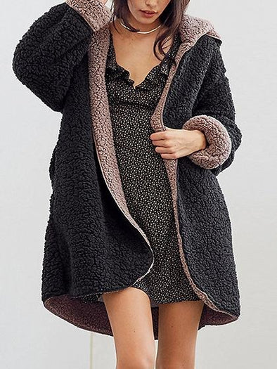Black Casual Coat