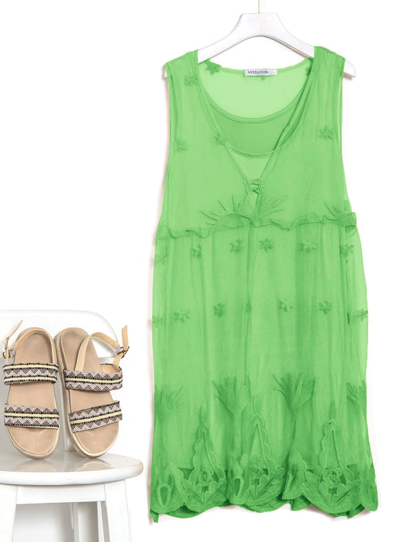 Casual Sleeveless Plus Size Dress
