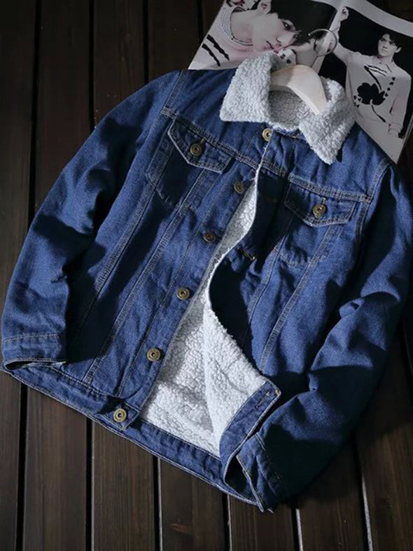 Long Sleeve Solid Casual Buttoned Outerwear