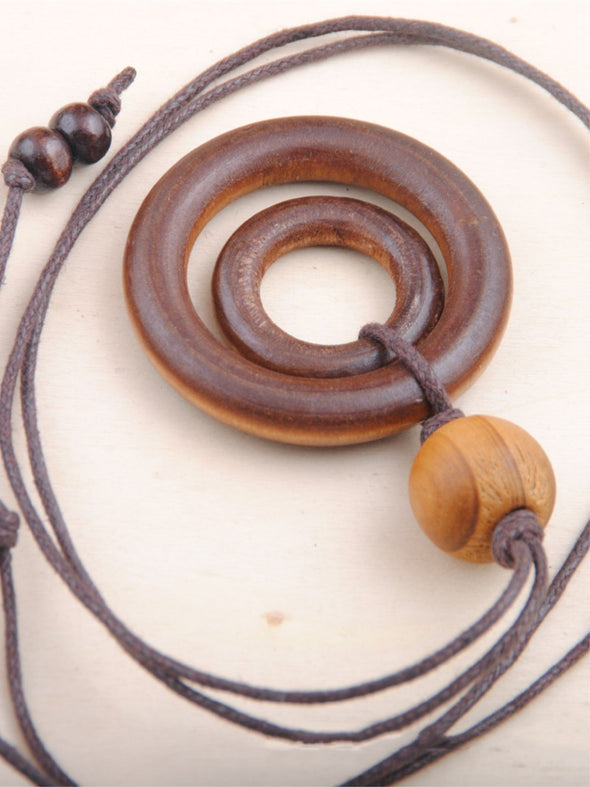 Casual Wooden Ring Women All Season Necklace