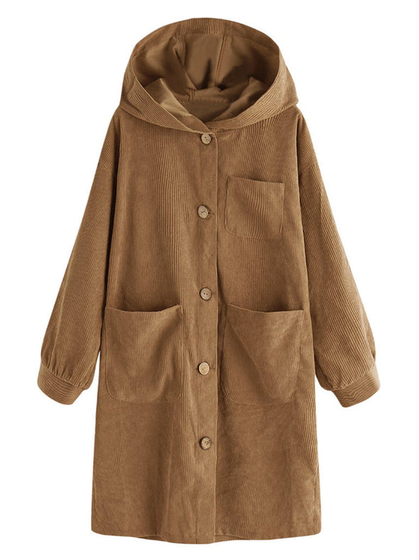 Long Sleeve Casual Cotton Coat