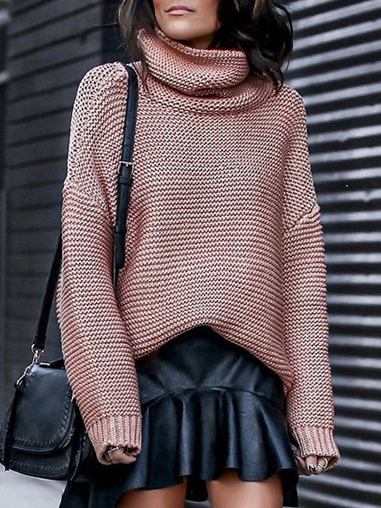 Long Sleeve Turtle Neck Knitwear