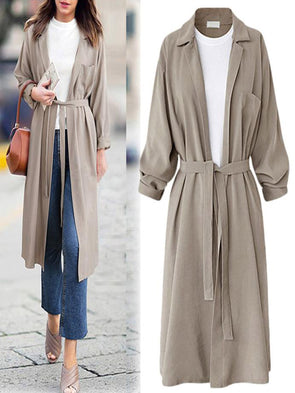 Long Sleeve Shirt Collar Casual Coat