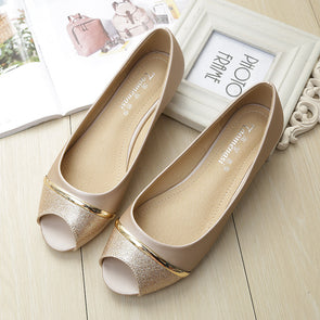 Pu Flat Heel Casual Shoes