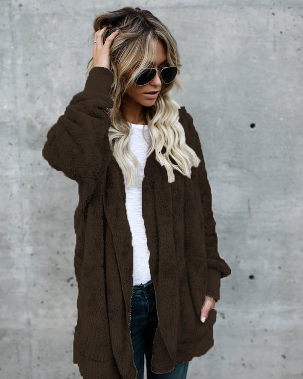 Long Sleeve Plain Casual Outerwear
