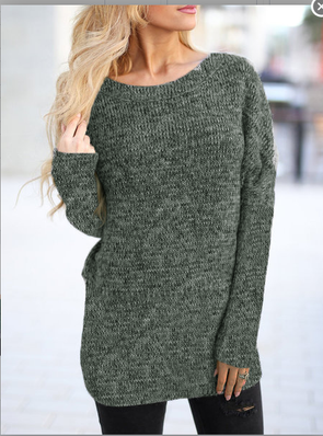 Casual Long Sleeve Knitted Knitwear