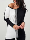 Long Sleeve Cotton Round Neck Tops
