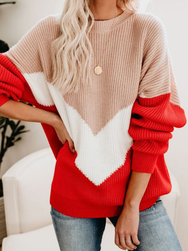 Long Sleeve Casual Knitted Plus Size Sweaters
