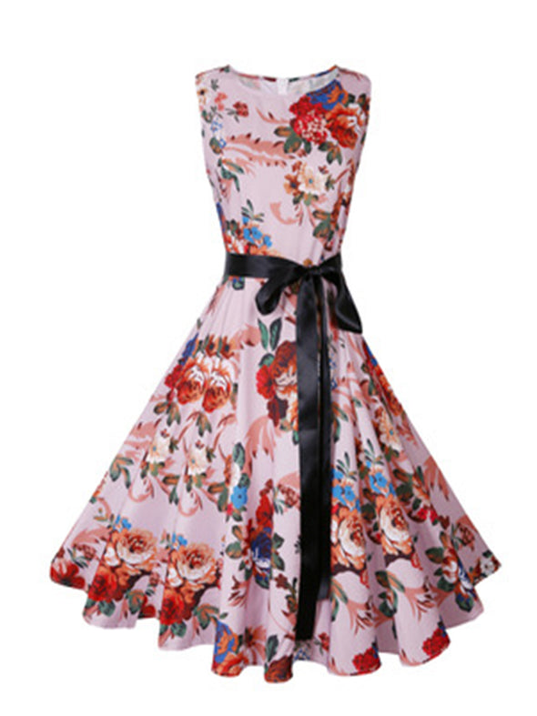 Floral with waistband Dresses