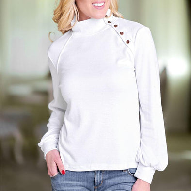 Long Sleeve Cotton Casual Tops