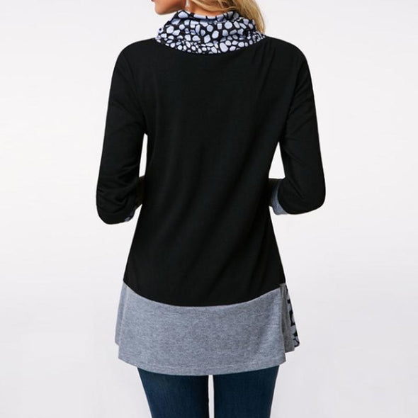 Hoodie Patch Casual Long Sleeve Tops