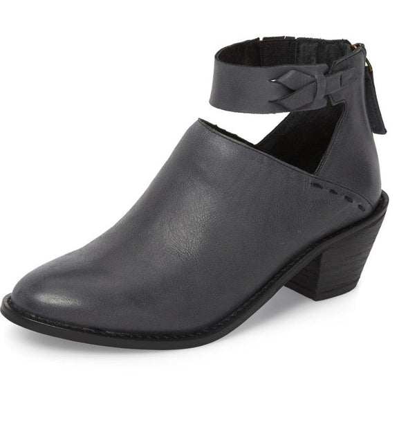 Chunky Heel Faux Leather Daily Shoes