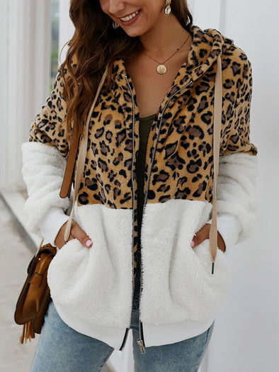 Long Sleeve Leopard Print Outerwear