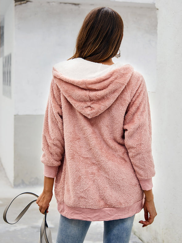 Batwing Solid Cotton Shift Outerwear