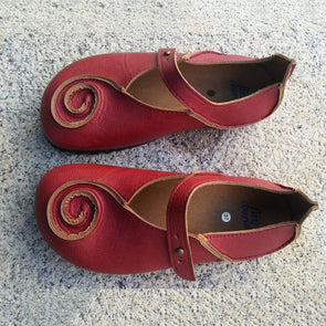 Red Pu Daily Summer Shoes
