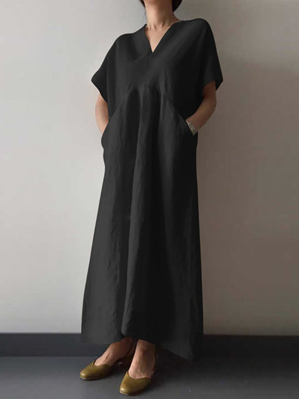 Casual Short Sleeve Cotton Dress