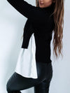 Casual Color-Block Bell Sleeve T-Shirt