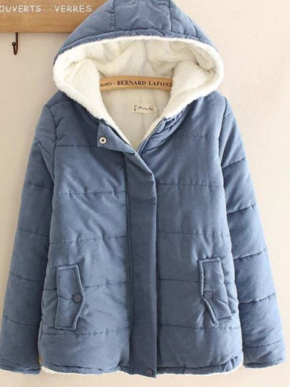 Long Sleeve Cotton-Blend Hoodie Outerwear
