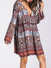 A-Line Long Sleeve Boho Dress