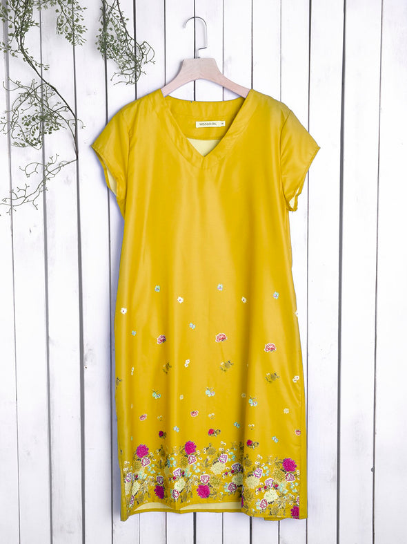 V Neck Women Dresses Shift Daily Boho Floral Dresses