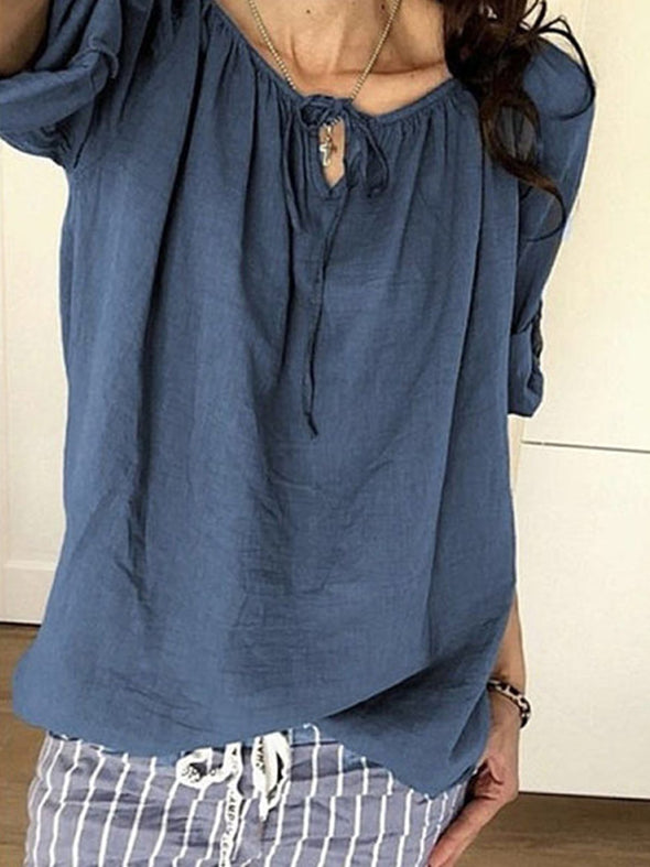 Long Sleeve Casual Plain Tops