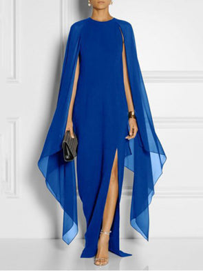 Shift Evening Cape Sleeve Dress