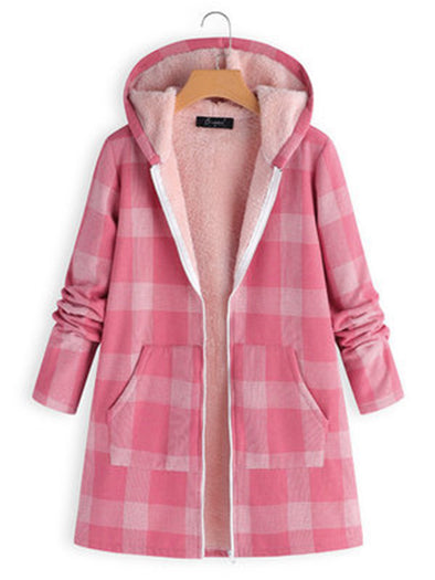 Plus Size S-5XL Lattice winter coat