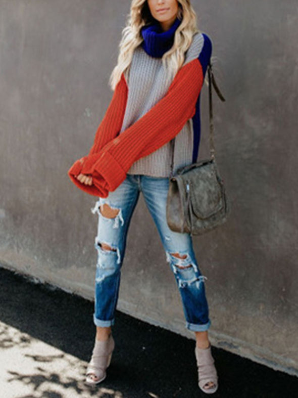 Red Long Sleeve Knitted Knitwear