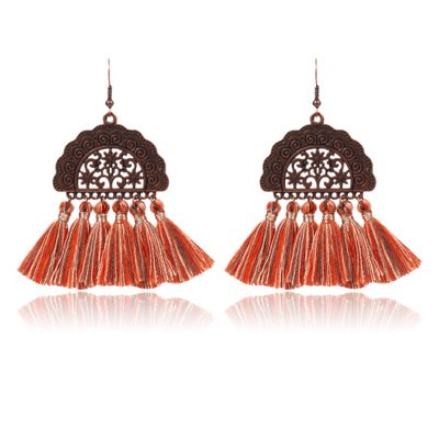 Alloy Vintage Boho Holiday Daily Fringed Tassels Earrings