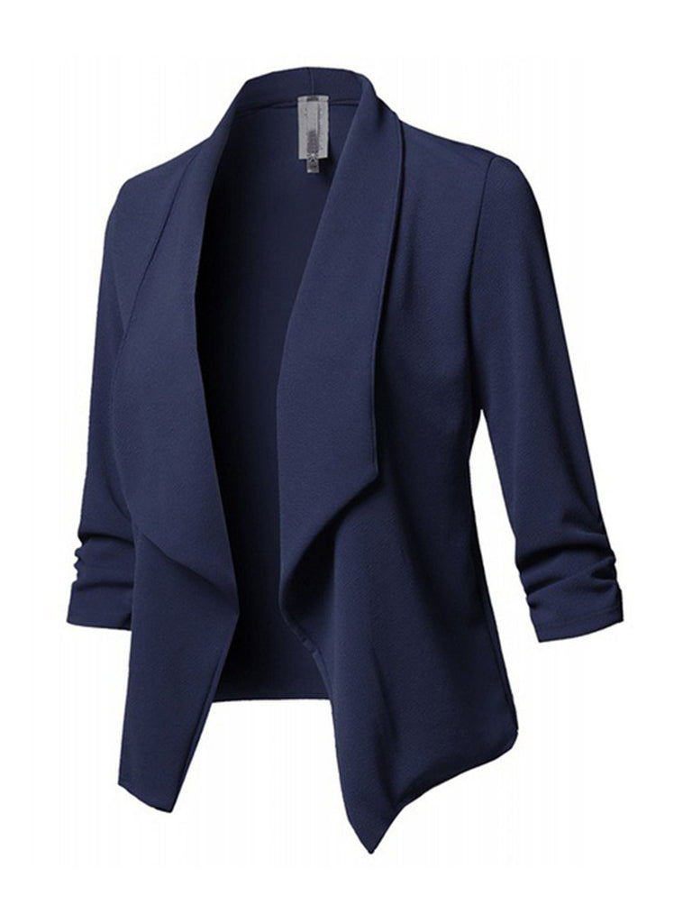 Paneled Long Sleeve Blazer