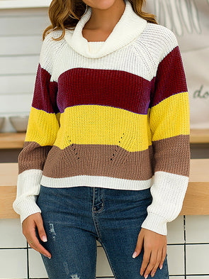 Striped Cotton Long Sleeve Knitwear