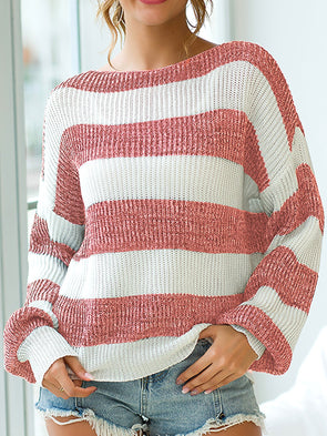 Long Sleeve Knitted Crew Neck Knitwear
