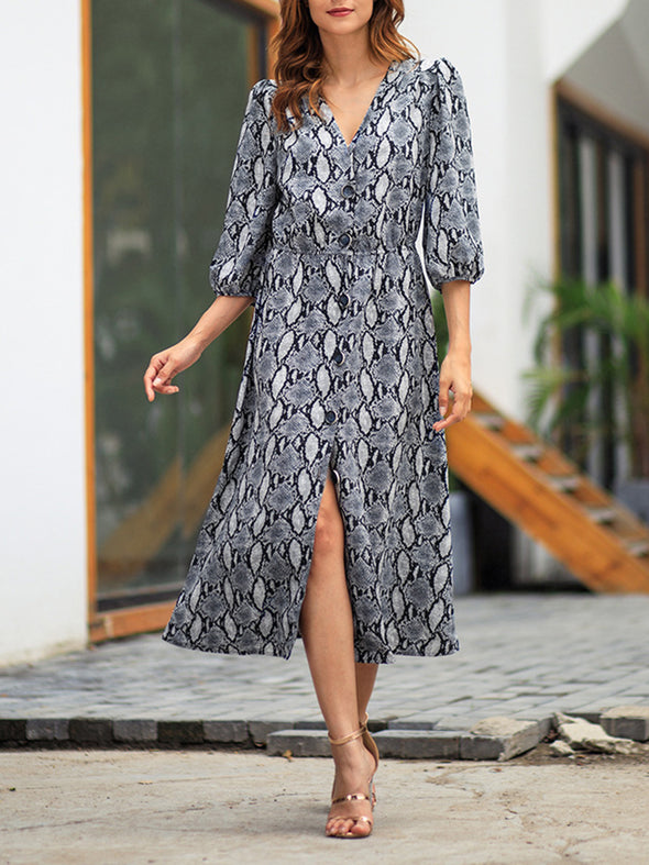 V Neck Women Spring Dresses Daily Casual Dresses