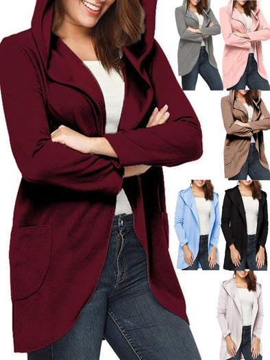 Pockets Long Sleeve Casual Outerwear