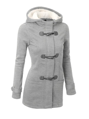 Long Sleeve Buttoned Hoodie Shift Outerwear