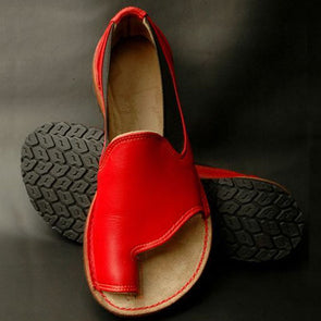 Artificial Leather Flat Heel Shoes