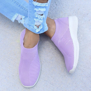 Elastic Cloth Low Heel Shoes