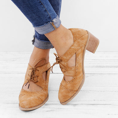 Low Heel Summer Daily Lace-Up Shoes