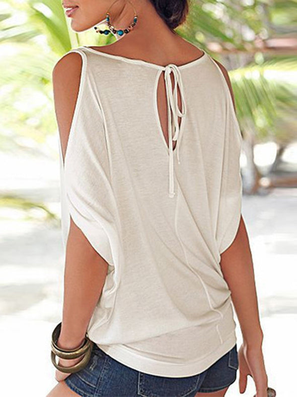 Sexy Cotton Cold Shoulder Tops