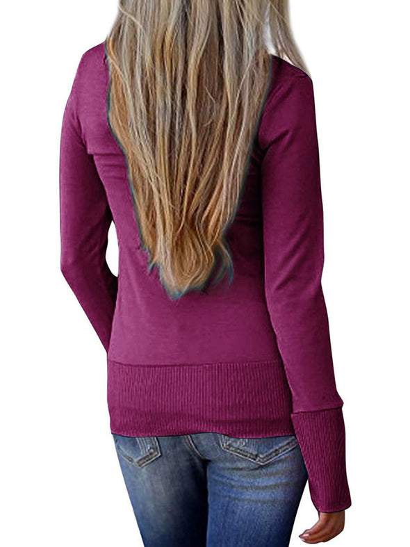 Knitted Long Sleeve Casual Solid Knitwear