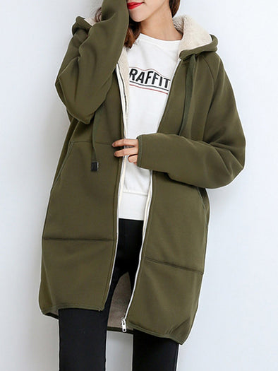 Hoodie Long Sleeve Casual Cotton Outerwear