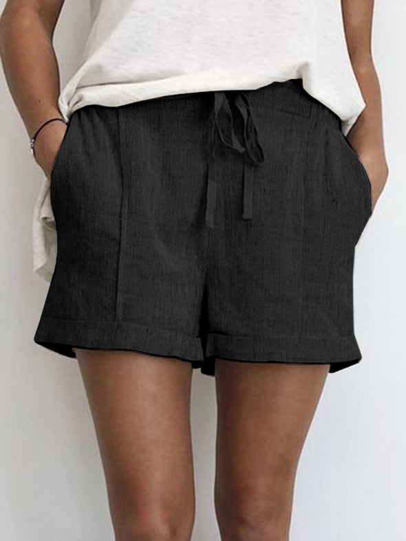 Summer Shorts Drawstring Pockets Casual Shorts