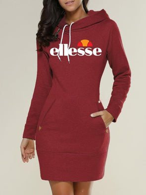 Hoodie Letter Print Sweat Dress