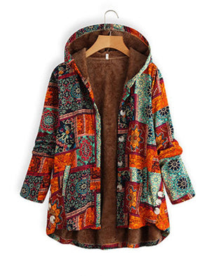 Vintage Faux Fur Tribal Outerwear